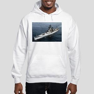 USS Missouri Ship's Image Hooded Sweatshirt