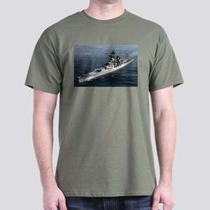 USS Missouri Ship's Image Dark T-Shirt
