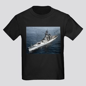 USS Missouri Ship's Image Kids Dark T-Shirt