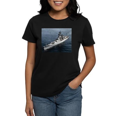 USS Missouri Ship's Image Women's Dark T-Shirt