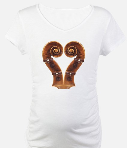 Violin Scroll Heart Shirt