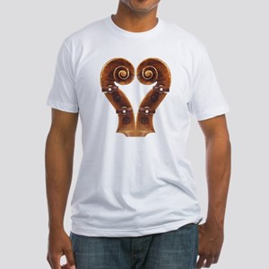 Violin Scroll Heart Fitted T-Shirt