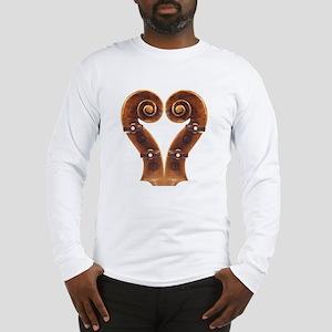 Violin Scroll Heart Long Sleeve T-Shirt