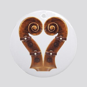 Violin Scroll Heart Ornament (Round)