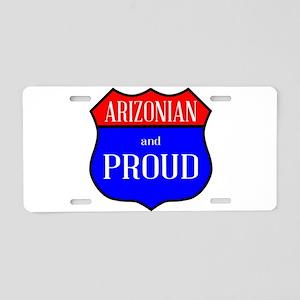 Arizonian And Proud Aluminum License Plate