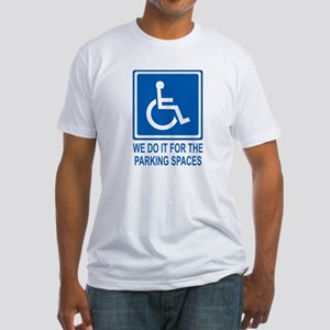 Handicapped Parking Fitted T-Shirt