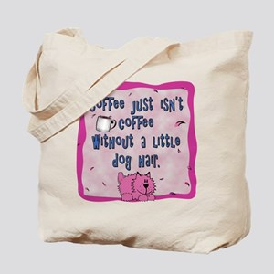 Grooming Apron - Coffee with Hair - Pink