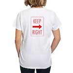 Keep Right Women's V-Neck T-Shirt