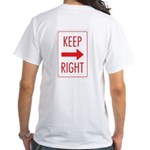 Keep Right White T-Shirt