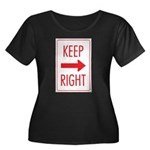 Keep Right Women's Plus Size Scoop Neck Dark T-Shi