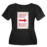 Keep Right Women's Plus Size Scoop Neck Dark T-Shi