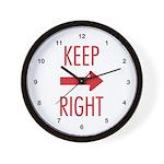 Keep Right Wall Clock