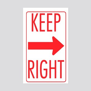 Keep Right Rectangle Sticker