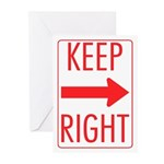 Keep Right Greeting Cards (Pk of 20)
