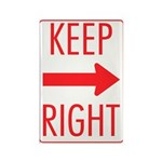 Keep Right Rectangle Magnet (10 pack)