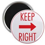Keep Right Magnet