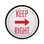 Keep Right Ornament (Round)