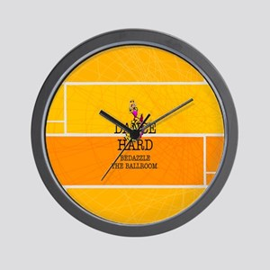 Dance Hard Wall Clock