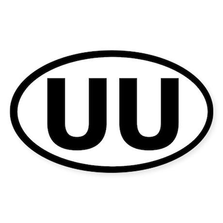 Basic UU Bumper Sticker (Oval)