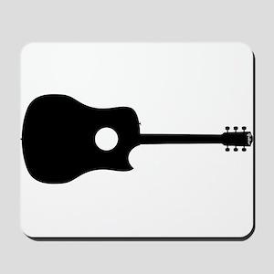 Single Cut Guitar Silhouette Mousepad
