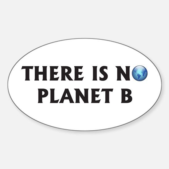 There Is No Planet B Oval Decal