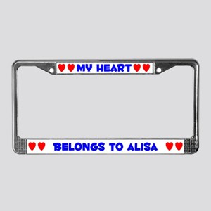 My Heart: Alisa (#005) License Plate Frame