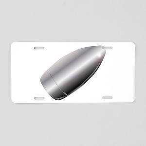 A Silver Bullet Aluminum License Plate
