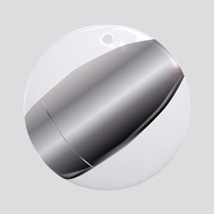 A Silver Bullet Round Ornament