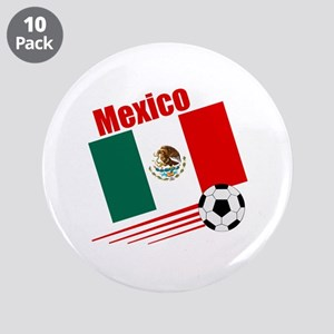 """Mexico Soccer Team 3.5"""" Button (10 pack)"""
