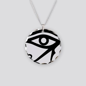 The Eye of Ra Necklace Circle Charm