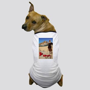 Vintage Snow Skiing - Skier Dog T-Shirt