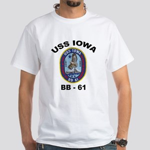 USS Iowa BB 61 White T-Shirt