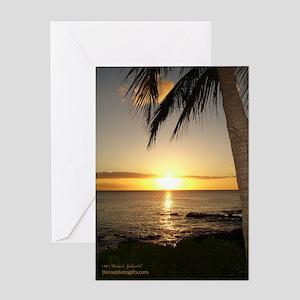 Beautiful Hawaii Sunset Greeting Card