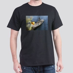 USS Iowa Ship's Image Dark T-Shirt