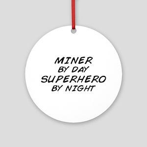 Miner Superhero Ornament (Round)