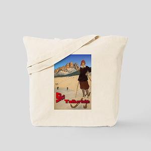 Vintage Ski Telluride Tote Bag