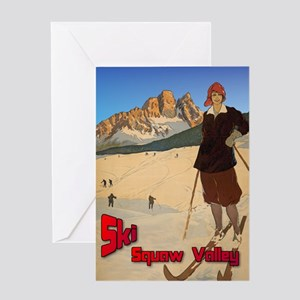 Ski Squaw Valley Greeting Card