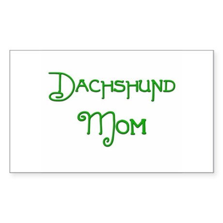 Dachshund Mom 2 Rectangle Sticker