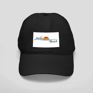 Malibu Beach Sunset Black Cap