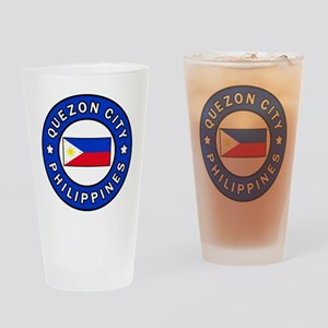 Quezon City Philippines Drinking Glass