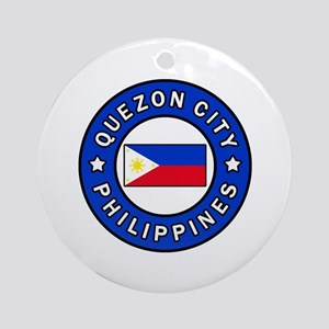 Quezon City Philippines Round Ornament