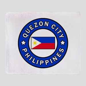 Quezon City Philippines Throw Blanket