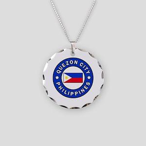 Quezon City Philippines Necklace Circle Charm