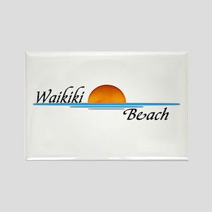 Waikiki Beach Sunset Rectangle Magnet