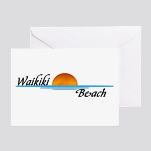 Waikiki Beach Sunset Greeting Cards (Pk of 10)