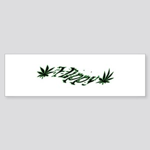 Hippy Bumper Sticker