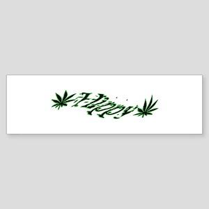 Hippy Bumper Sticker