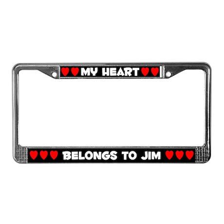 My Heart: Jim (#001) License Plate Frame