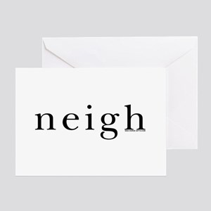 Neigh. Horse language. Greeting Card