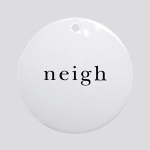 Neigh. Horse language. Ornament (Round)